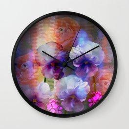 Paint me a garden Wall Clock
