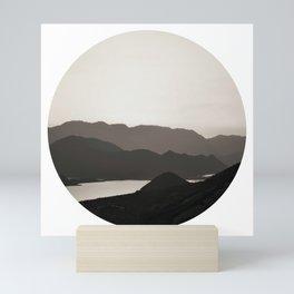 Mountains And A Lake Mini Art Print