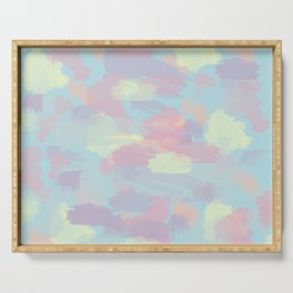 Colorful brushstrokes Serving Tray