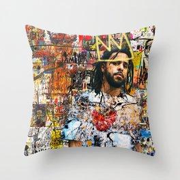 J.Cole Portrait Artwork Throw Pillow