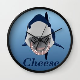 Shark Selfie Say Cheese Wall Clock