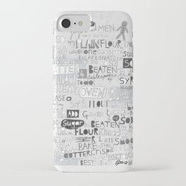 A recipe for gingerbread. iPhone Case