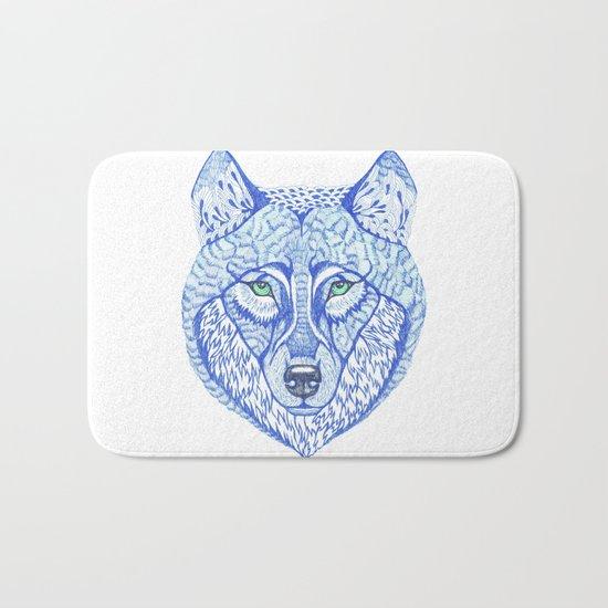 ice wolf Bath Mat