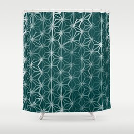 Japanese Geometry - Emerald Shower Curtain