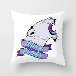 Tough Pussy Throw Pillow