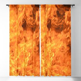 fire, as if painted Blackout Curtain