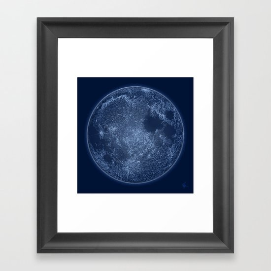 Dark Side of the Moon - Painting Framed Art Print