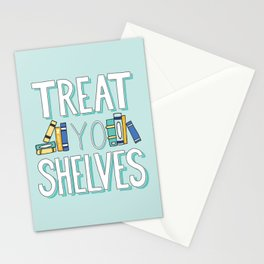 Treat Yo Shelves - Book Nerd Quote Stationery Cards