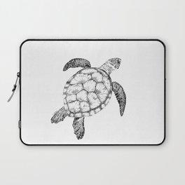 Sea Turtle - Pen and Ink Illustration Laptop Sleeve
