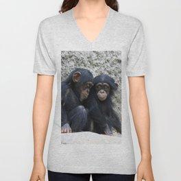 Chimpanzee 002 Unisex V-Neck