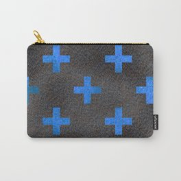 Black and Blue Cross Carry-All Pouch