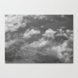 Aerial Photograph of wind turbines Canvas Print
