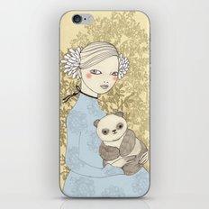 Girl with Panda iPhone & iPod Skin