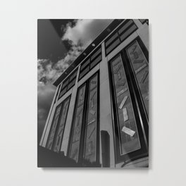 Charlotte 7th St Parking Black and White Metal Print