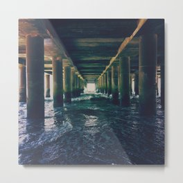 Under The Boardwalk Metal Print