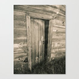 A Door to the Past, Sepia Canvas Print