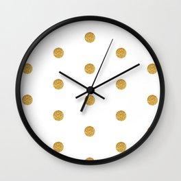 Golden dot 2 dot Wall Clock