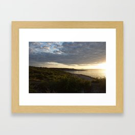 Halibut Point at Sunset Framed Art Print