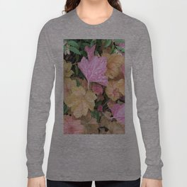 Pink Leaves Long Sleeve T-shirt