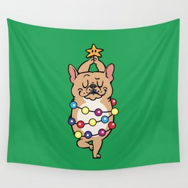 French Bulldog Merry Christmas Wall Tapestry