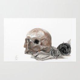 old sage's skull Rug