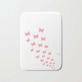 Watermelon butterflies Bath Mat