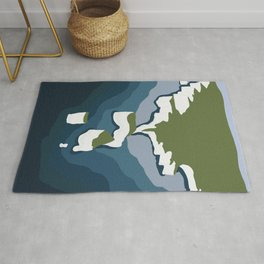 The White Cliffs of Dover, England Rug