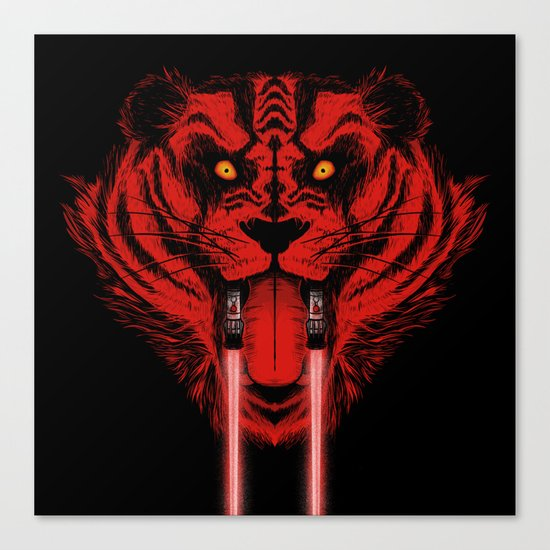 Dark Side Saber-Toothed Tiger Canvas Print