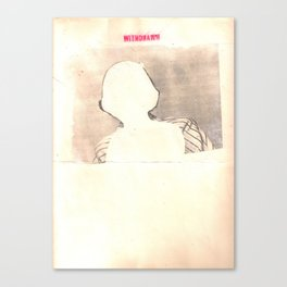 """withdrawn"" Canvas Print"