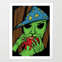 The Warlock in the Woods Art Print