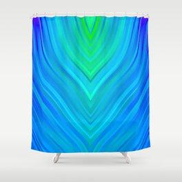 stripes wave pattern 3 std Shower Curtain