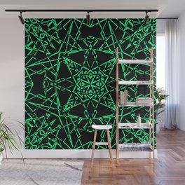 Black and green, abstract, geometric, creative, art Deco, modern Wall Mural