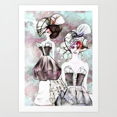 Dog Rose Parade Art Print