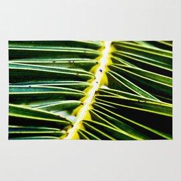 Magic Green Palm Leaves Rug