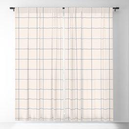 windowpane plaid Blackout Curtain