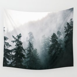 Forest Fog X Wall Tapestry