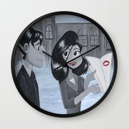 Finding Love Wall Clock