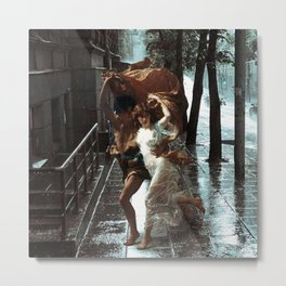 Rain Lovers Metal Print
