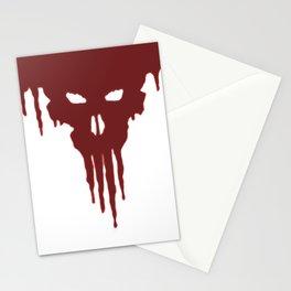 Dissolved Blood Skull Stationery Cards