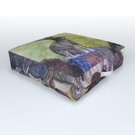 Jack's Family by Maureen Donovan Outdoor Floor Cushion