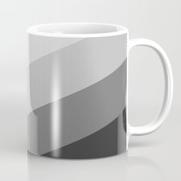 Gray Chevron Stripes Coffee Mug