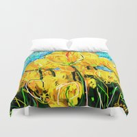 tulips Duvet Covers featuring Tulips  by sladja