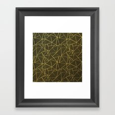 Ab 2 R Black and Gold Framed Art Print