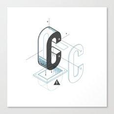 The Exploded Alphabet / C Canvas Print