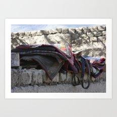 Tibetan Saddles Art Print