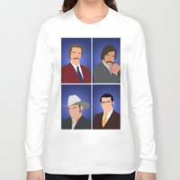 anchorman Long Sleeve T-shirts featuring News Team Assemble - Anchorman by Tom Storrer