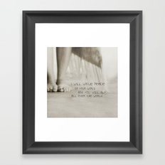 peace on your wings Framed Art Print