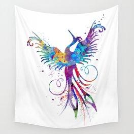 Phoenix Watercolor Print Nursery Art Gift for Her Bird Art Wall Tapestry