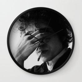 Bob Dylan Smoking Black and white Retro Silk Poster Frameless Wall Clock