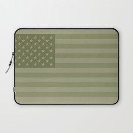 Camo Stars and Stripes – USA Flag in Military Camouflage Colors [FalseFlag 1] Laptop Sleeve